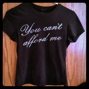 "Glitter T-shirt ""you can't afford me"""